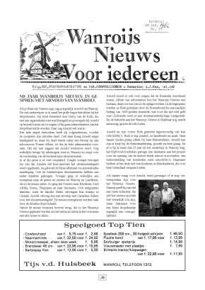 Jubileum uitgave - 1 september